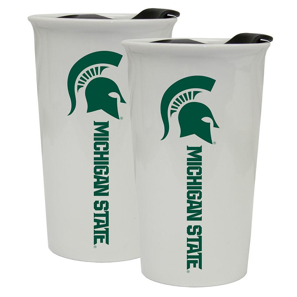 Michigan State Spartans 2-Pack Ceramic Tumbler Set