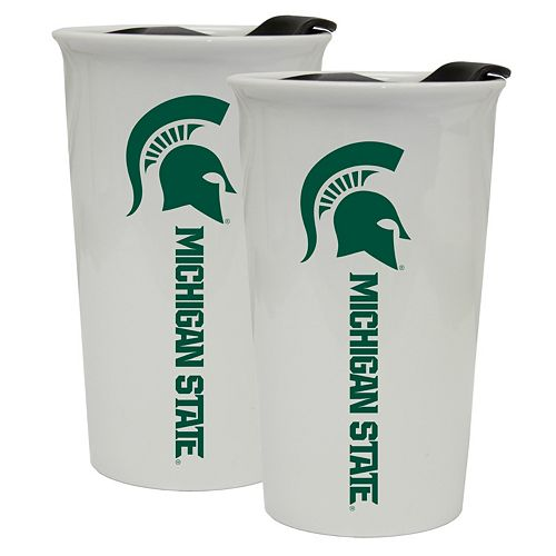 Michigan State Spartans 2-Pack Ceramic Tumbler Set