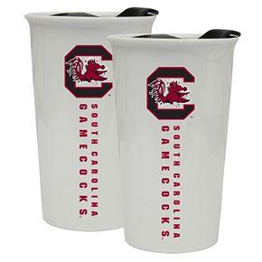 South Carolina Gamecocks 2-Pack Ceramic Tumbler Set