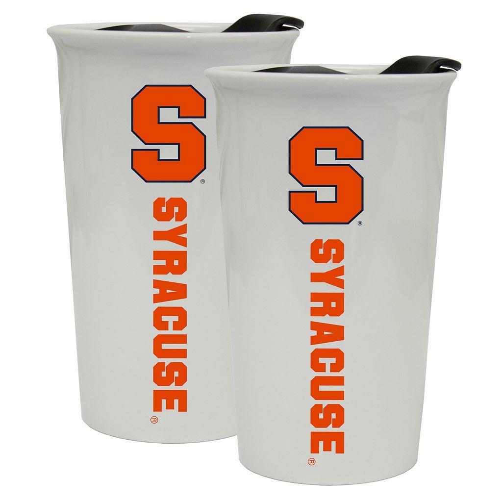Syracuse Orange 2-Pack Ceramic Tumbler Set