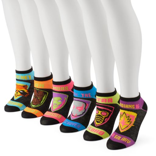 Women's 6-pk. Marvel Guardians of the Galaxy No-Show Socks