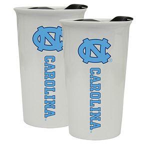 North Carolina Tar Heels 2-Pack Ceramic Tumbler Set
