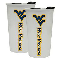 West Virginia Mountaineers 2-Pack Ceramic Tumbler Set