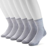 Extended Size Croft & Barrow® 6-pack Opticool Work Quarter Socks