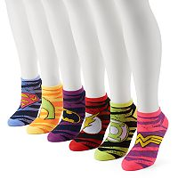 Women's 6-pk. DC Comics Superhero No-Show Socks