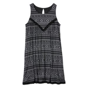 Girls 7-16 Mudd® Crochet Gauze Swing Dress