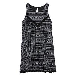 Girls 7-16 Mudd® Crochet Gauze Swing Dress