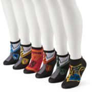 Women's 6-pk. Harry Potter Hogwarts House Uniforms No-Show Socks