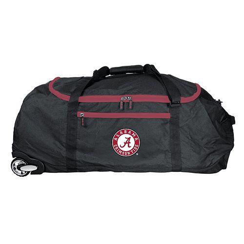Alabama Crimson Tide Wheeled Collapsible Duffle Bag