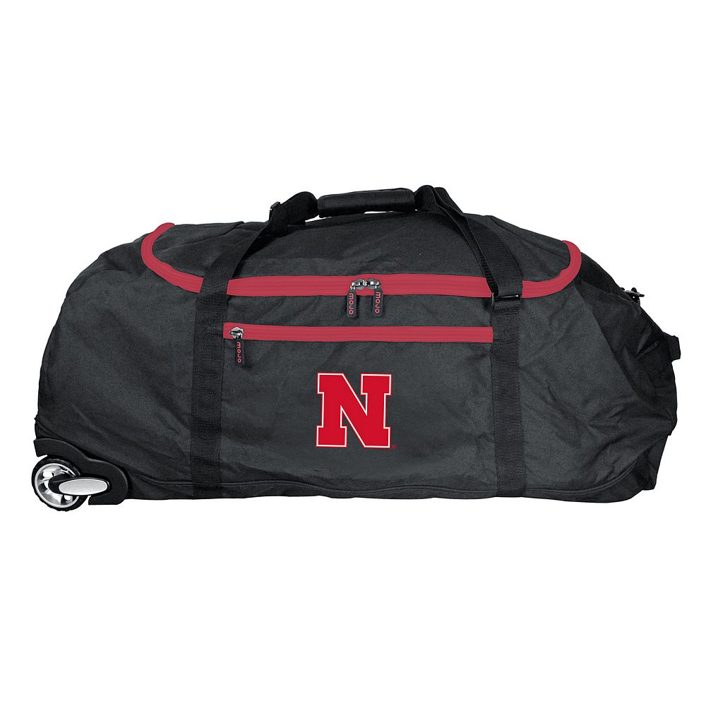 Nebraska Cornhuskers Wheeled Collapsible Duffle Bag