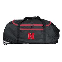 Nebraska Cornhuskers Wheeled Collapsible Duffle Bag