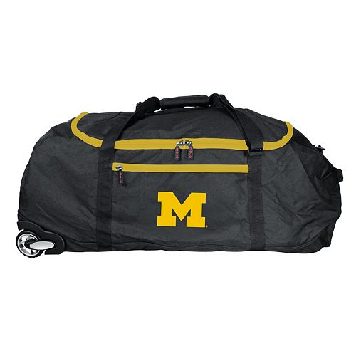 Michigan Wolverines Wheeled Collapsible Duffle Bag
