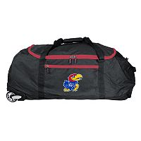 Kansas Jayhawks Wheeled Collapsible Duffle Bag