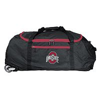 Ohio State Buckeyes Wheeled Collapsible Duffle Bag