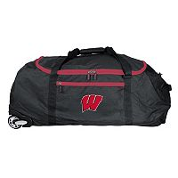 Wisconsin Badgers Wheeled Collapsible Duffle Bag
