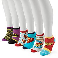 Women's 6-pk. DC Comics Superman, Batman & Wonder Woman No-Show Socks