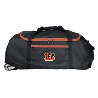 Cincinnati Bengals Wheeled Collapsible Duffle Bag