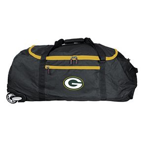 Green Bay Packers Wheeled Collapsible Duffle Bag