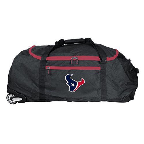 Houston Texans Wheeled Collapsible Duffle Bag