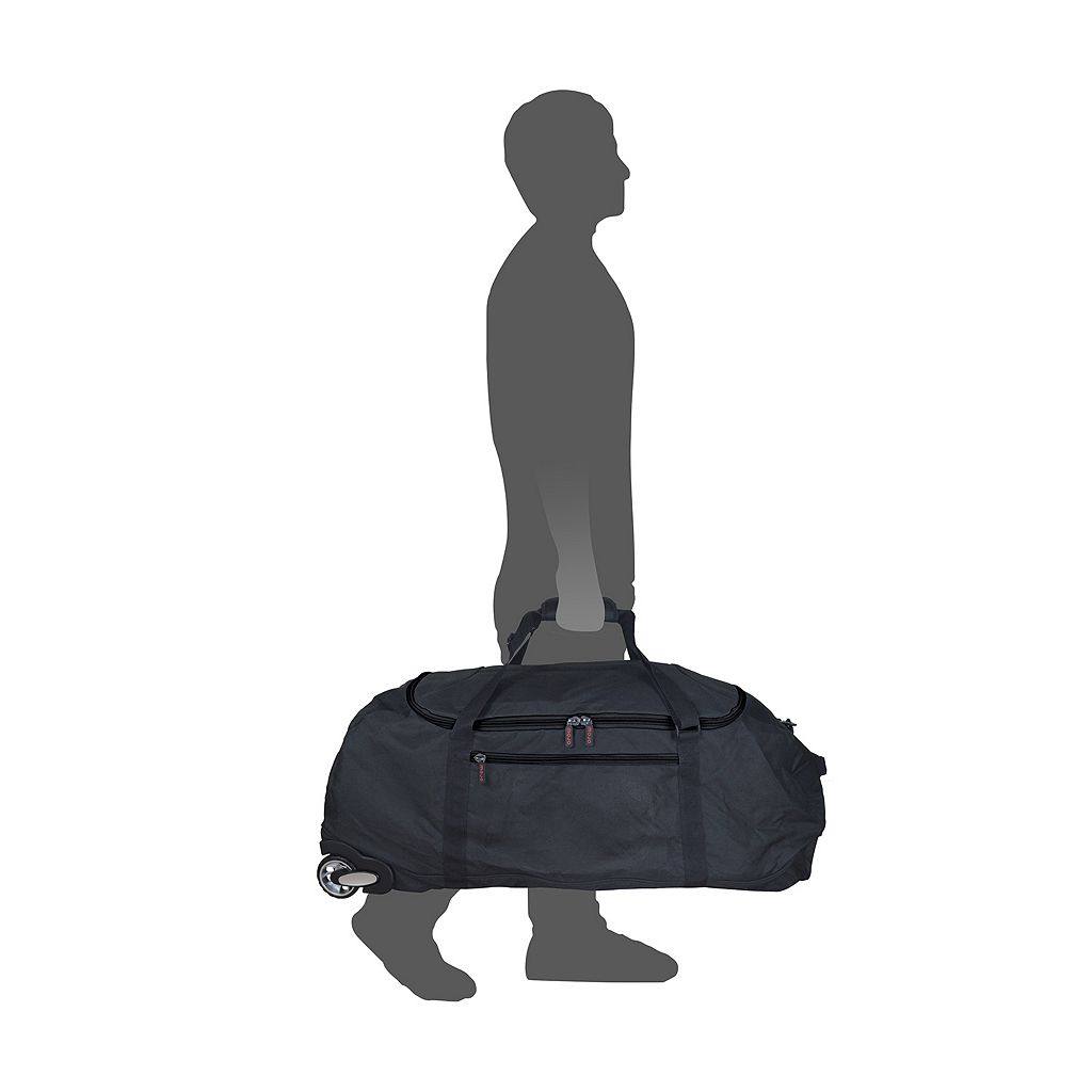 New York Giants Wheeled Collapsible Duffle Bag
