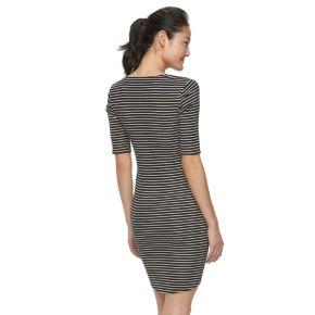 Juniors' Candie's® Striped Bodycon Dress