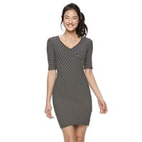 Juniors' Candie's® Striped Bodycon Dress