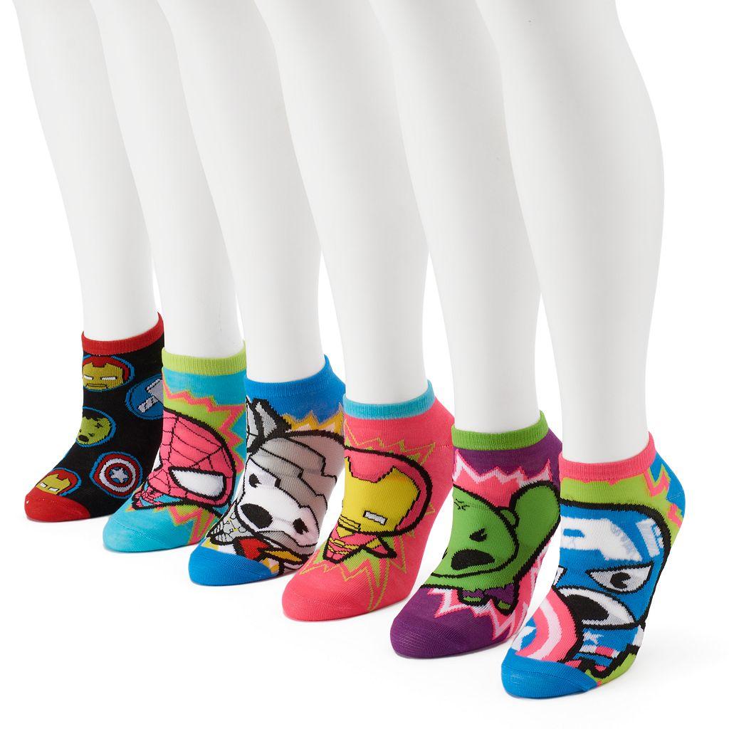 Women's 6-pk. Marvel The Avengers No-Show Socks