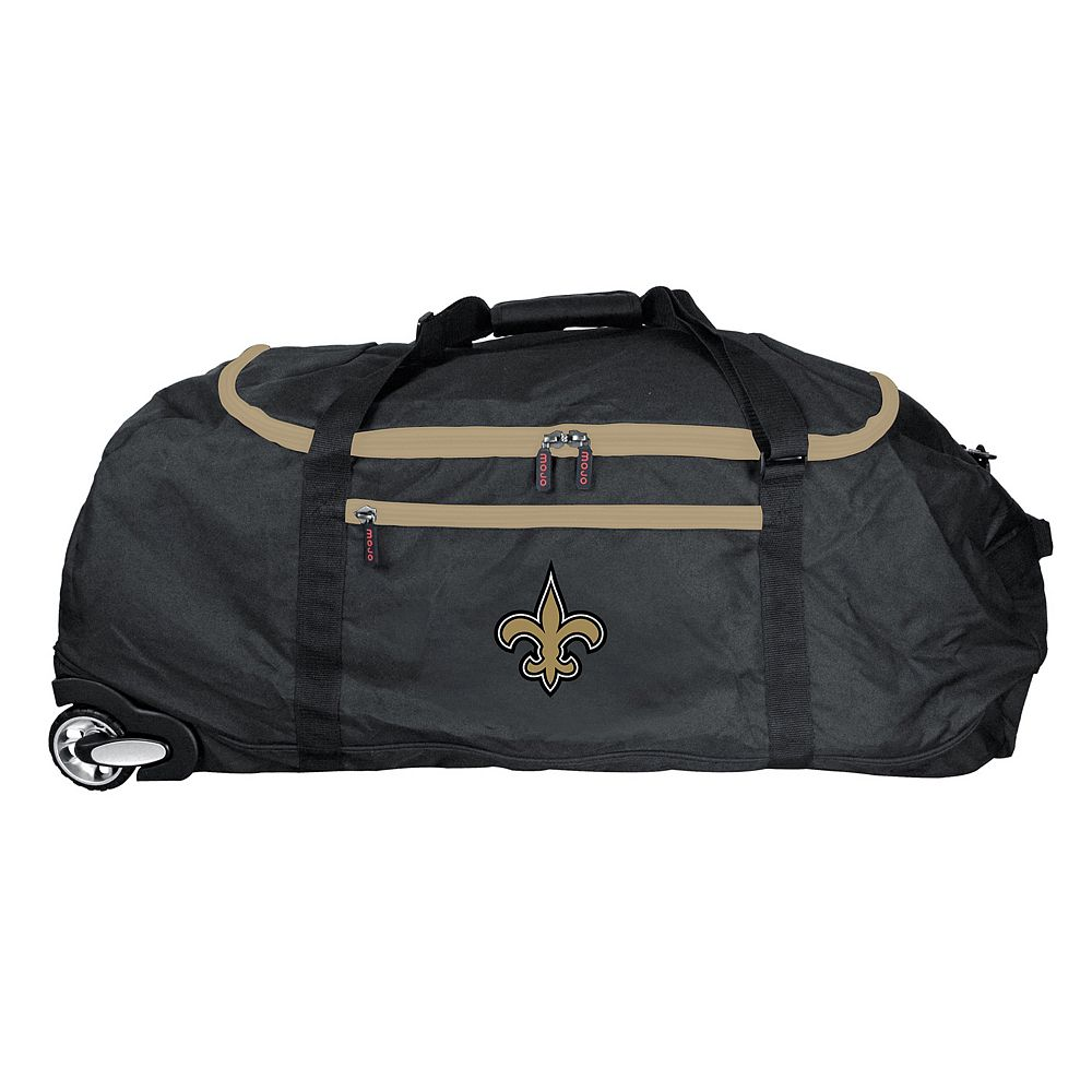 New Orleans Saints Wheeled Collapsible Duffle Bag