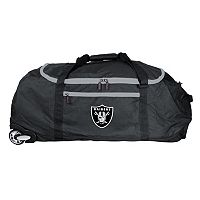Oakland Raiders Wheeled Collapsible Duffle Bag