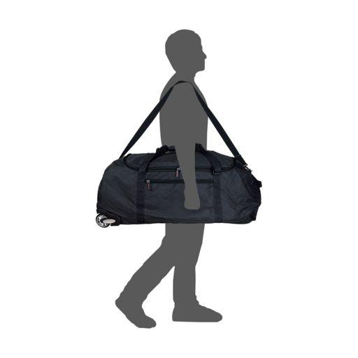 Oakland Raiders Wheeled Collapsible Duffle Bag