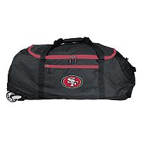 San Francisco 49ers Wheeled Collapsible Duffle Bag