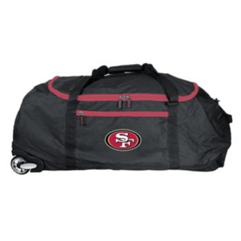 San Francisco 49ers Wheeled Collapsible Duffle Bag