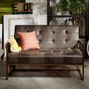 INK+IVY Waldorf Faux-Leather Loveseat