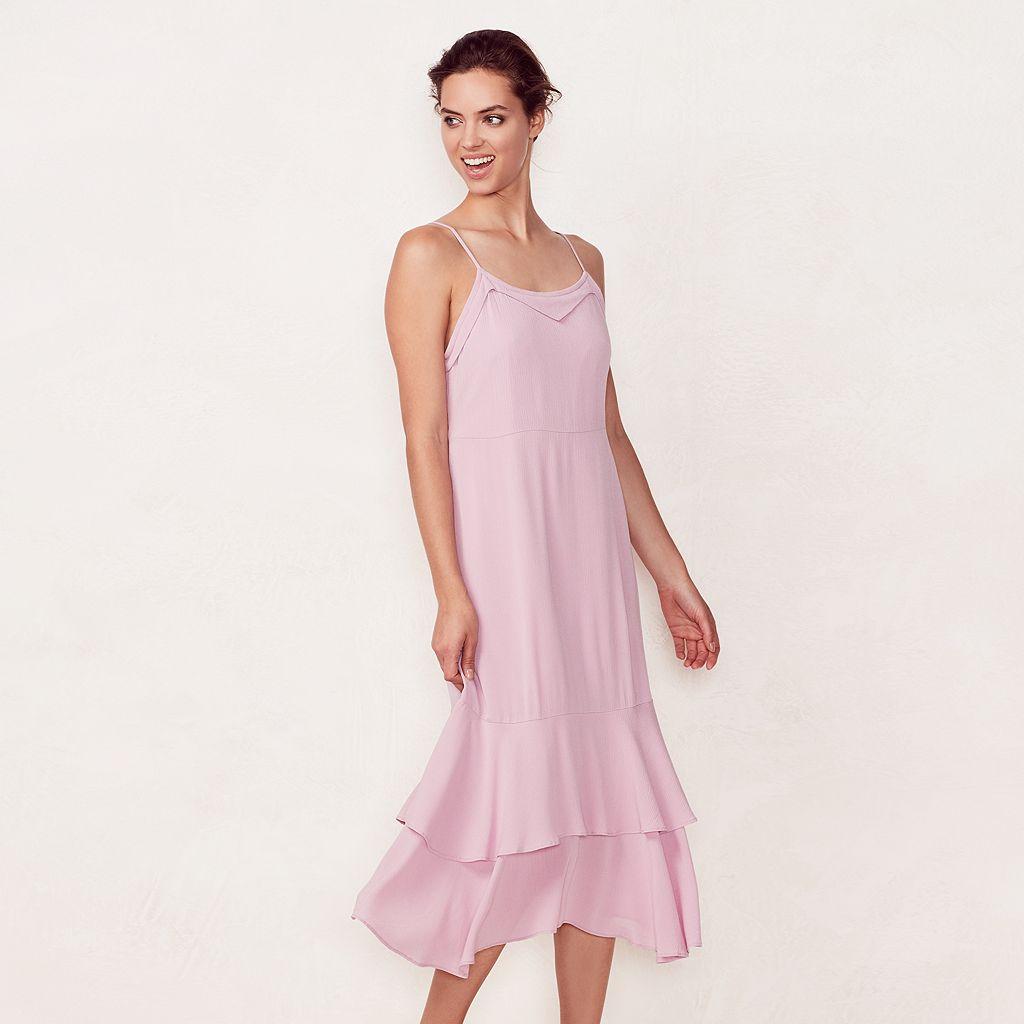 Women's LC Lauren Conrad Tiered Slip Dress