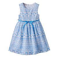 Baby Girl Blueberi Boulevard Crochet Open-Back Dress