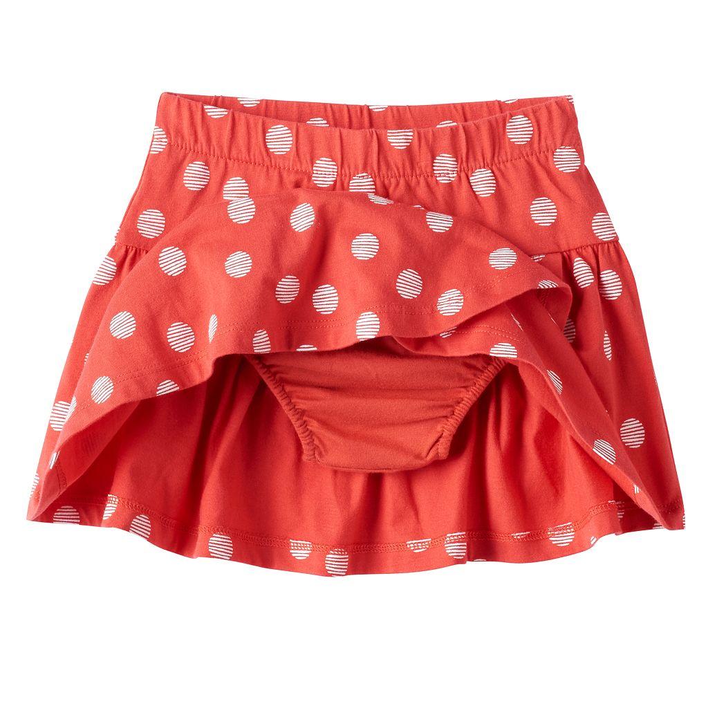 Baby Girl Jumping Beans® Polka-Dot Tulip-Hem Skort