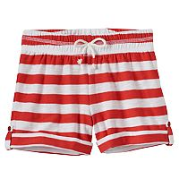 Girls 4-10 Jumping Beans® Striped Roll-Tab Shorts