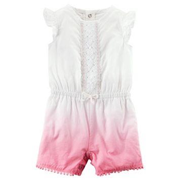 Baby Girl Carter's Crochet Dip-Dye Romper