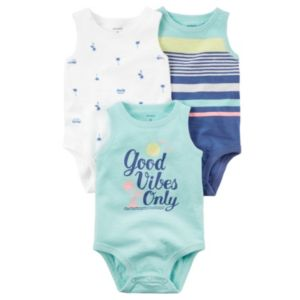 Baby Boy Carter's 3-pk. Sleeveless Print & Graphic Bodysuits