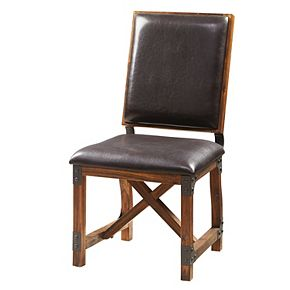 INK+IVY Lancaster Faux-Leather Dining Chair