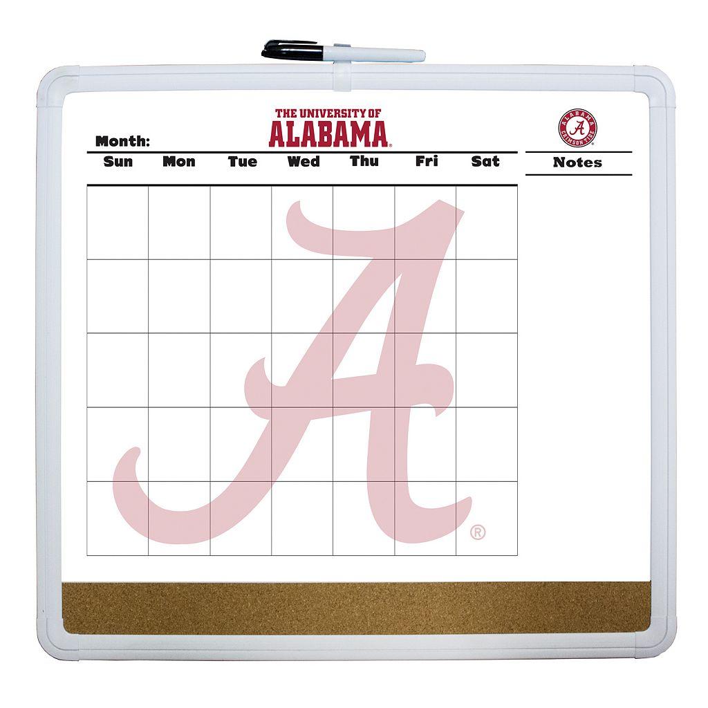 Alabama Crimson Tide Dry Erase Cork Board Calendar