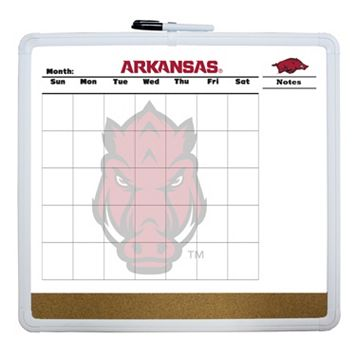 Arkansas Razorbacks Dry Erase Cork Board Calendar