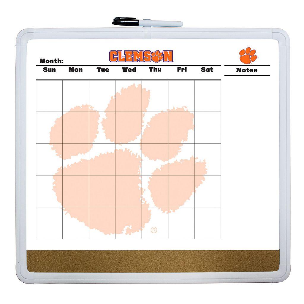 Clemson Tigers Dry Erase Cork Board Calendar