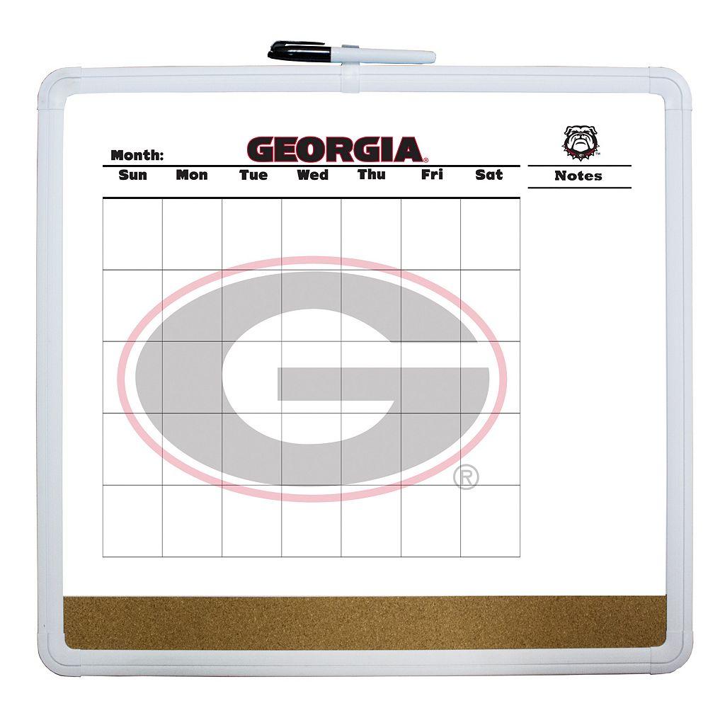 Georgia Bulldogs Dry Erase Cork Board Calendar