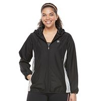 Plus Size FILA SPORT® Colorblock Mesh Hooded Jacket