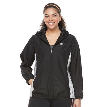 Plus Size FILA SPORT® Colorblock Mesh Hooded Jacket