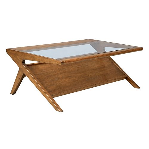 INK+IVY Rocket Glass Coffee Table