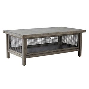 INK+IVY Cody Metal Wire Mesh Coffee Table