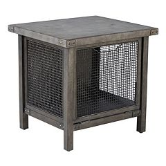 INK+IVY Cody Metal Wire Mesh End Table