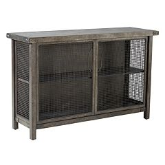 INK+IVY Cody Metal Wire Mesh Console Table